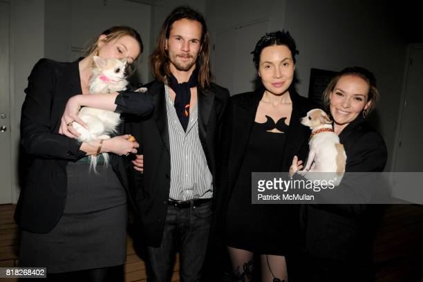 Kingsley Woolworth Tula Max Whitney Fabiola Beracasa Booda and Natalia Rozenholc attend TAILS Celebrates 'I LOVE NYC PETS' Month at Meisel Residence...