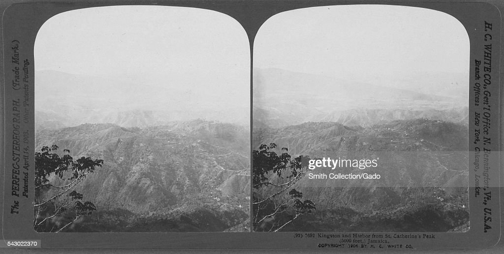 Kingston and Harbor from St Catherine's Peak Jamaica 1904 From the New York Public Library