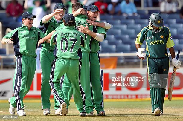 Irish cricket fans cheers for their team before the Group D match of the ICC World Cup 2007 between Ireland and Pakistan at the Sabina Park Cricket...