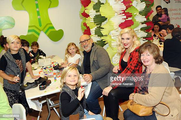 Kingston Rossdale Zuma Rossdale Stella Stefani Dennis Stefani Gwen Stefani and Patti Flynn attend the Third Annual Baby2Baby Holiday Party presented...