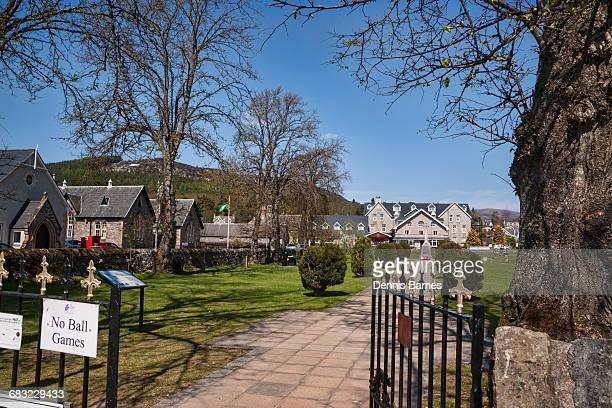 Kingussie village centre, park, Scotland,Highlands