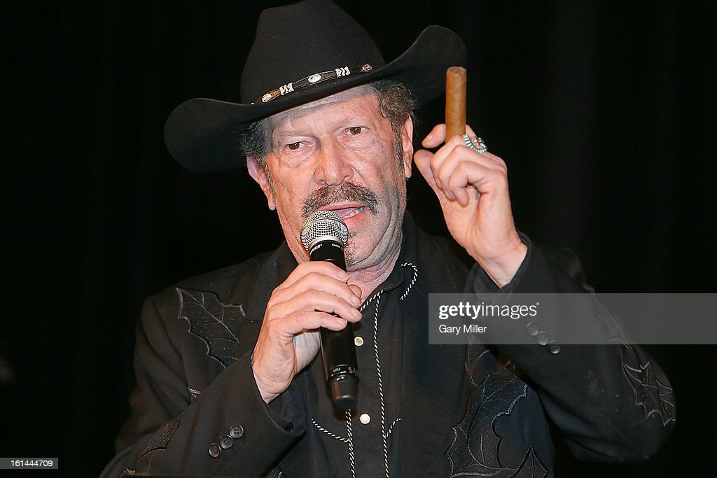 Kinky Friedman speaks during the Nobelity Projects Artists and Filmmakers Dinner honoring Kris Kristofferson with the Feed The Peace award at the Four Seasons Hotel on February 10, 2013 in Austin, Texas.