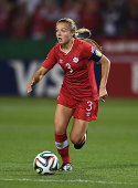 Kinley McNicoll of Canada in action during the FIFA U20 Women's World Cup Canada 2014 Group A match between Canada and Ghana at the National Soccer...