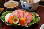Kinme (alfonsino) shabu-shabu sashimi