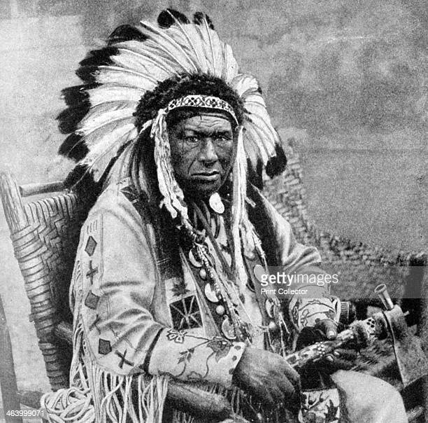 Kinnewankan chief of the Sioux 1922 Illustration from Peoples of All Nations Their Life Today and the Story of Their Past volume II British Empire to...