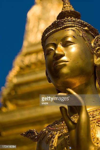 Kinora golden statue at Wat Phra Kew ancient site