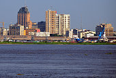 Kinshasa, Democratic Republic of the Congo: skyline and the Congo river - photo by M.Torres