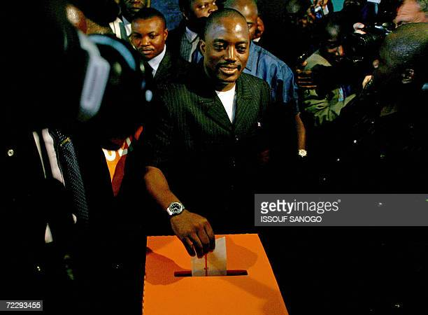 Kinshasa Democratic Republic of the Congo Democratic Republic of Congo's incumbent President Joseph Kabila casts his vote in a polling station in...