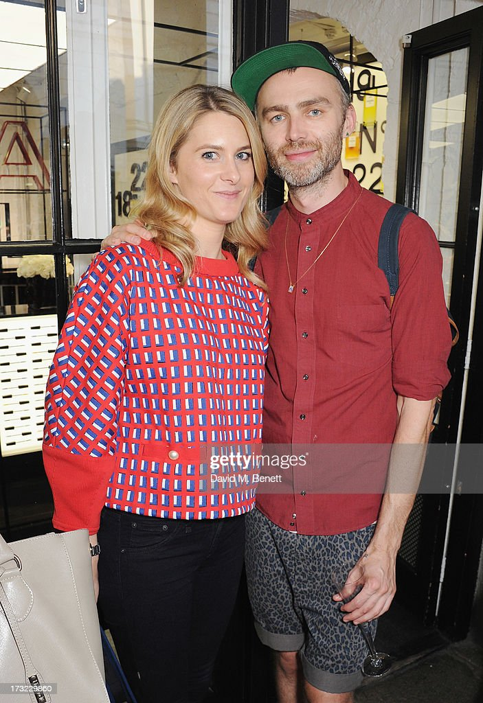 Kinvara Balfour and George Northwood attend a party for www.getthegloss.com hosted by Chanel at Chanel Covent Garden store on July 10, 2013 in London, England.