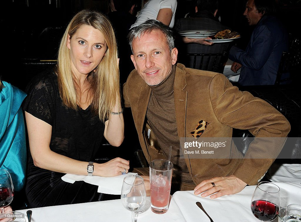 Kinvara Balfour (L) and Patrick Cox attend the launch of The Lion pop-up restaurant at The Brompton Club featuring a private dinner for Joseph Altuzarra hosted by Browns on April 26, 2012 in London, England.