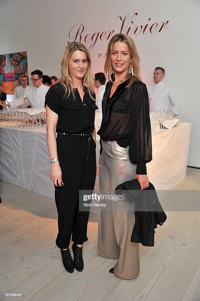 Kinvara Balfour and Princess Tatiana of Greece attend the Roger Vivier book launch party at Saatchi Gallery on April 24, 2013 in London, England.