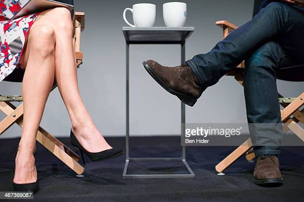 Kinvara Balfour and Scott Schuman speak at Apple Store Soho on February 6 2014 in New York City