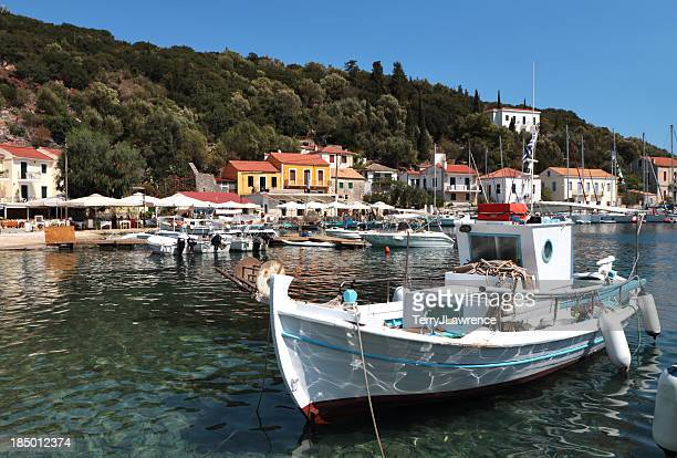 Kioni Harbour and Seafront, Ithaki, Ionian Islands, Greece