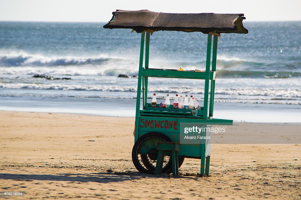Kiosk at the beach : Stock Photo