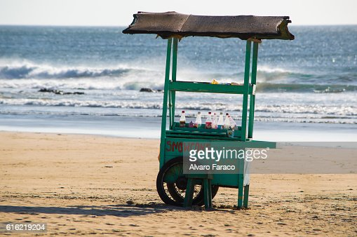 Kiosk at the beach : Stock-Foto