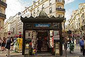 Kiosk de journaux (newsagent stand), St Lazare.