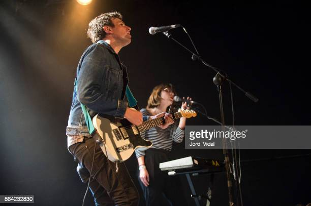 Kip Berman and Peggy Wang of The Pains of Being Pure at Heart perform on stage at Bikini on October 20 2017 in Barcelona Spain