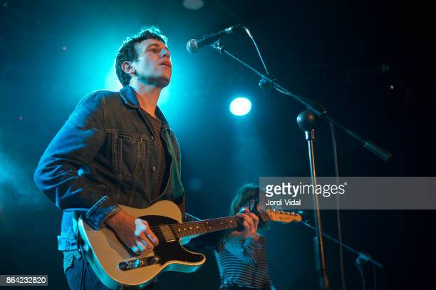 Kip Berman of The Pains of Being Pure at Heart performs on stage at Bikini on October 20 2017 in Barcelona Spain