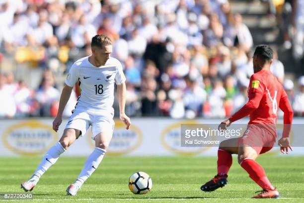 Kip Colvey of the All Whites in action during the 2018 FIFA World Cup Qualifier match between the New Zealand All Whites and Peru at Westpac Stadium...