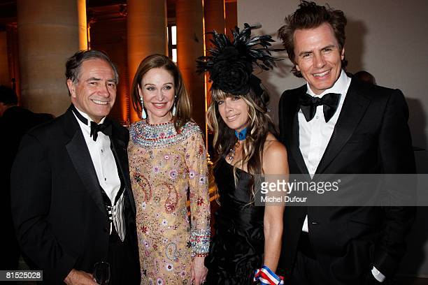 Kip Forbes Becca Cason Thrash John Taylor of Duran Duran and Gela Nash attend a party hosted by Becca Cason Thrash to honour The American Friends of...