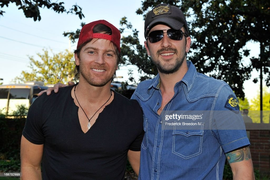 Kip Moore and Rhett Walker attend the GRAMMY Block Party at Owen Bradley Park on May 14, 2013 in Nashville, Tennessee.