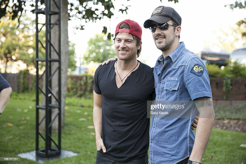 Kip Moore and Rhett Walker attend the GRAMMY Block Party at Owen Bradley Park on May 14 2013 in Nashville Tennessee