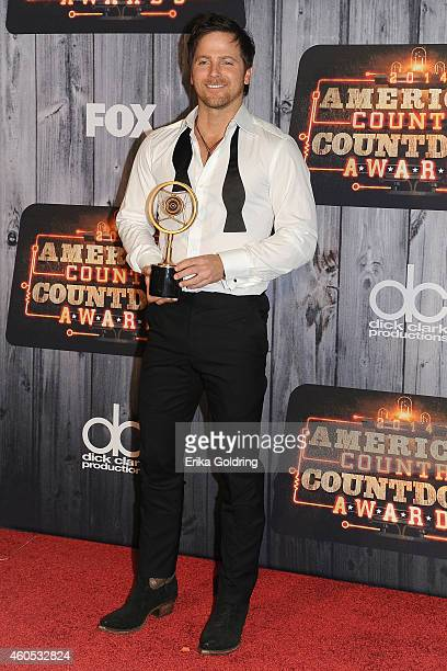 Kip Moore Breakthrough Artist of the Year award winner poses in the press room during the 2014 American Country Countdown Awards at Music City Center...