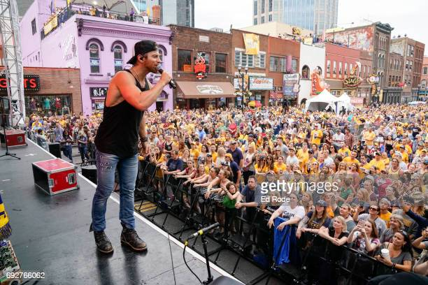 Kip Moore performs at the 7th Annual Music City Gives Back concert in downtown Nashville on June 5 2017 in Nashville Tennessee