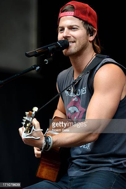 Kip Moore performs during 'FOX Friends' All American Concert Series outside of FOX Studios on June 21 2013 in New York City