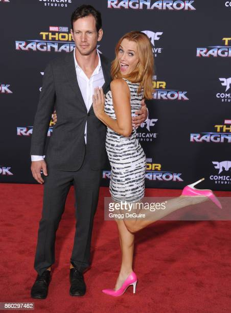 Kip Pardue and Annie Wersching arrive at the premiere of Disney and Marvel's 'Thor Ragnarok' at the El Capitan Theatre on October 10 2017 in Los...