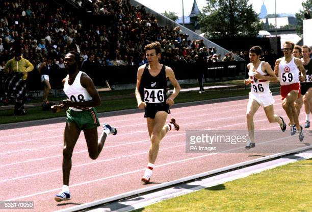 Kipchoge Keino of Kenya leading Theodorus Quax of New Zealand during the 1500 metres