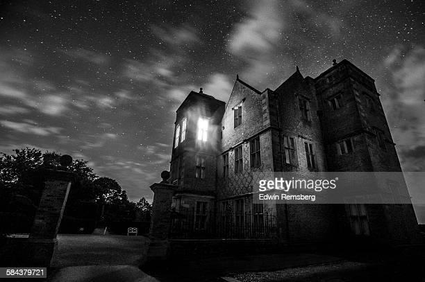 Kiplin Hall in shadows