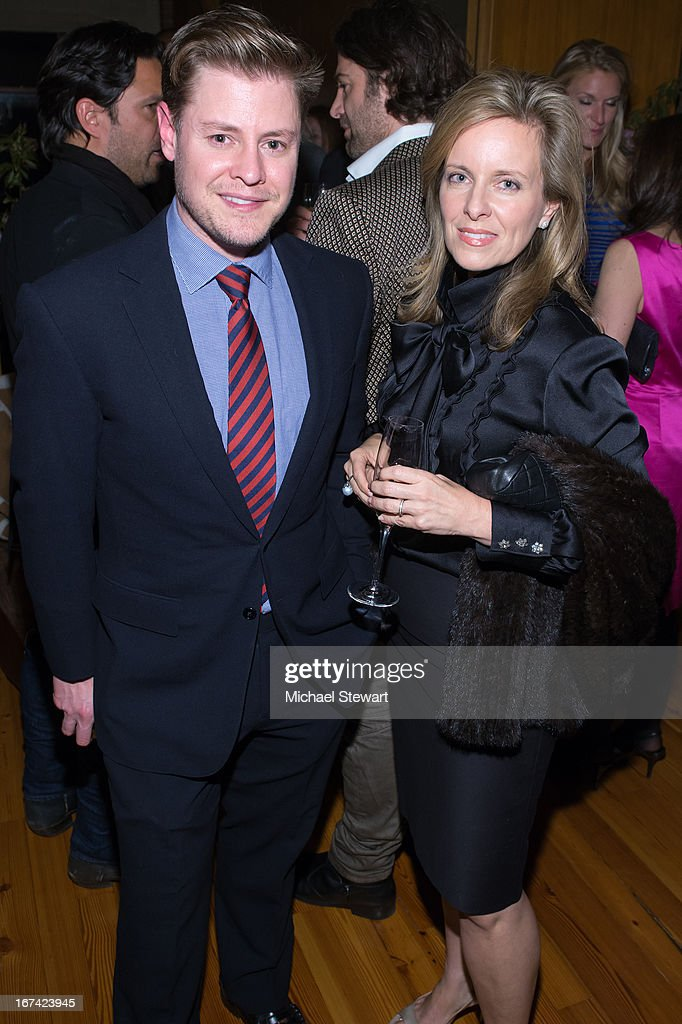 Kipton Cronkite (L) and guest attend Alvin Valley 'Belle De Jour' Intimate Dinner Party on April 24, 2013 in New York City.