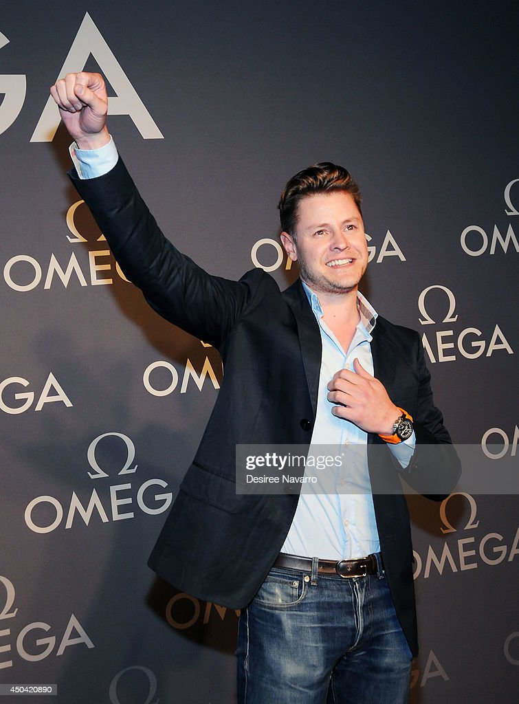 Kipton Cronkite attends the OMEGA Speedmaster Dark Side of the Moon launch at Cedar Lake on June 10, 2014 in New York City.