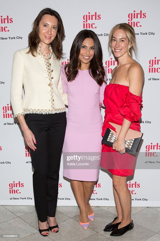 Kira Faimam, Jasmine Barr, and Sari Sloane Keledjian attend '2016 Girls Inc Spring Luncheon' at The Metropolitan Club on April 28, 2016 in New York City.