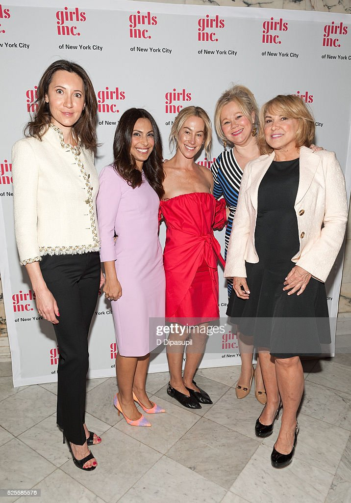 Kira Faiman, Jasmine Barr, Sari Sloane Keledjian, <a gi-track='captionPersonalityLinkClicked' href=/galleries/search?phrase=Caroline+Rhea&family=editorial&specificpeople=215030 ng-click='$event.stopPropagation()'>Caroline Rhea</a>, and guest attend the 2016 Girls Inc Spring Luncheon at The Metropolitan Club on April 28, 2016 in New York City.