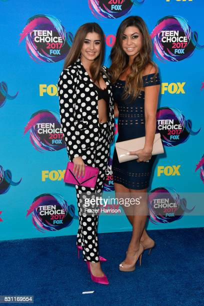 Kira Girard and Kalani Hilliker attend the Teen Choice Awards 2017 at Galen Center on August 13 2017 in Los Angeles California