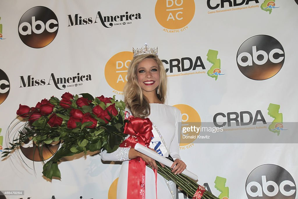 <a gi-track='captionPersonalityLinkClicked' href=/galleries/search?phrase=Kira+Kazantsev&family=editorial&specificpeople=12505447 ng-click='$event.stopPropagation()'>Kira Kazantsev</a>, newly crowned Miss America 2015 at Press Conference after crowning at Atlantic City Boardwalk Hall on September 14, 2014 in Atlantic City, New Jersey.