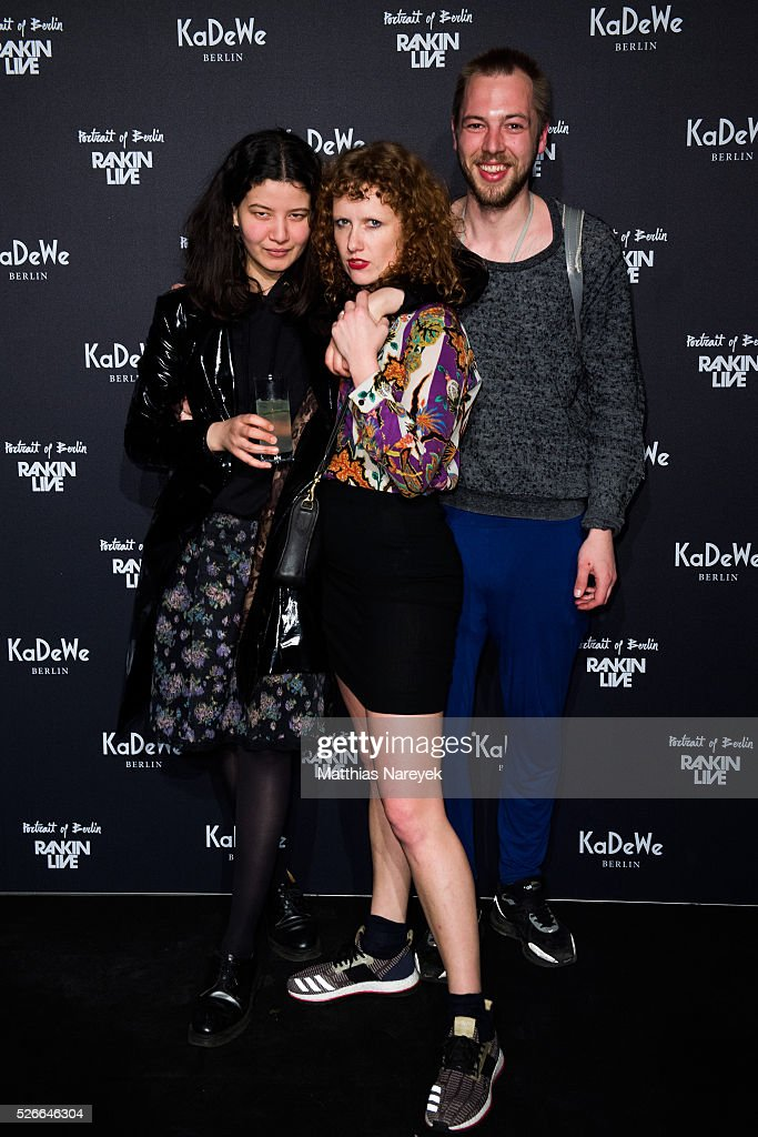 Kira Lillie and guests attends the Rankin Live x KaDeWe event at KaDeWe on April 30, 2016 in Berlin, Germany.
