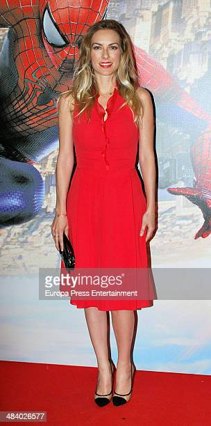 Kira Miro attend 'The Amazing SpiderMan 2 Rise Of Electro' special screening reception at US ambassador's residence on April 10 2014 in Madrid Spain