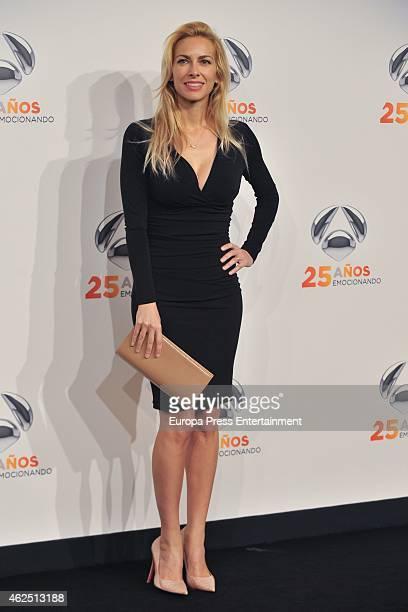 Kira Miro attends 'Antena 3' 25th Anniversary Reception at the Palacio de Cibeles on January 29 2015 in Madrid Spain