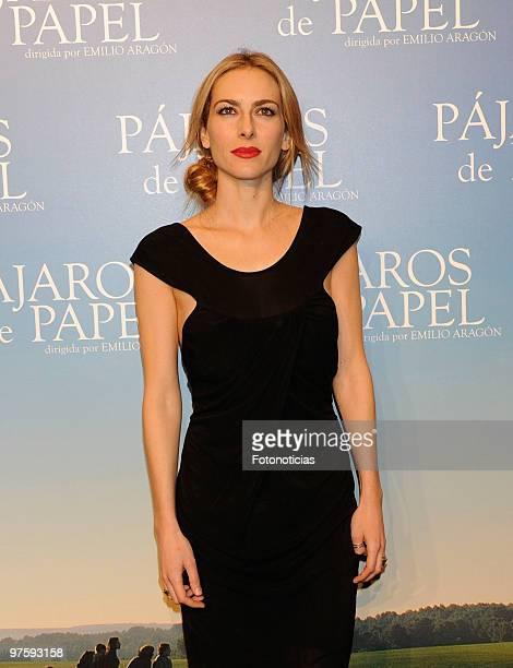Kira Miro attends 'Pajaros de Papel' premiere at Kinepolis Cinema on March 9 2010 in Madrid Spain