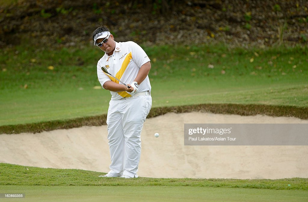 Kiradech Aphibarnrat of Thaiand in action during round two of The Open Championship International Final Qualifying Asia at Amata Springs Country Club on March 1, 2013 in Bangkok, Thailand.