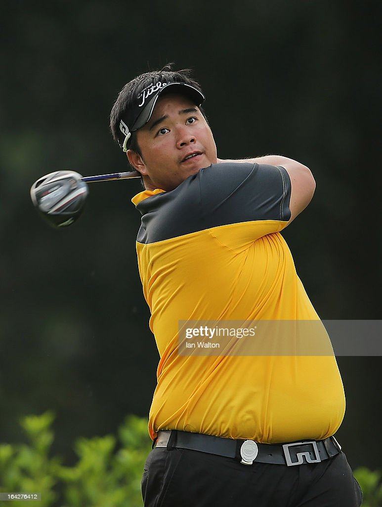 <a gi-track='captionPersonalityLinkClicked' href=/galleries/search?phrase=Kiradech+Aphibarnrat&family=editorial&specificpeople=6827713 ng-click='$event.stopPropagation()'>Kiradech Aphibarnrat</a> of Thailand in action during the second round of the Maybank Malaysian Open at Kuala Lumpur Golf & Country Club on March 22, 2013 in Kuala Lumpur, Malaysia.