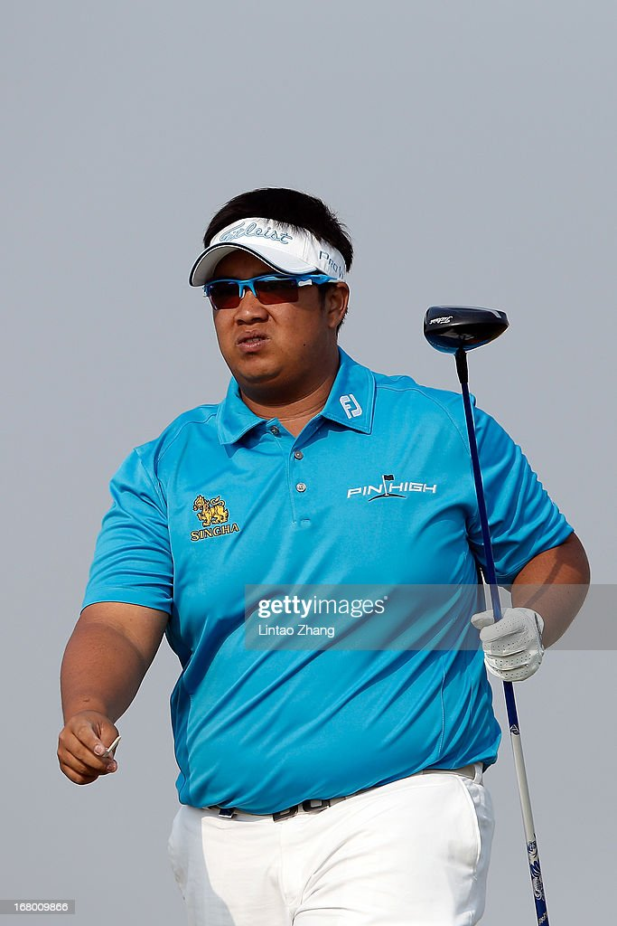 Kiradech Aphibarnrat of Thailand looks on during the third day of the Volvo China Open at Binhai Lake Golf Course on May 4, 2013 in Tianjin, China.