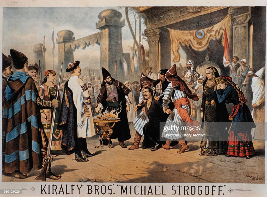 Kiralfy Brothers' Spectacle Michael Strogoff Poster circa 1882
