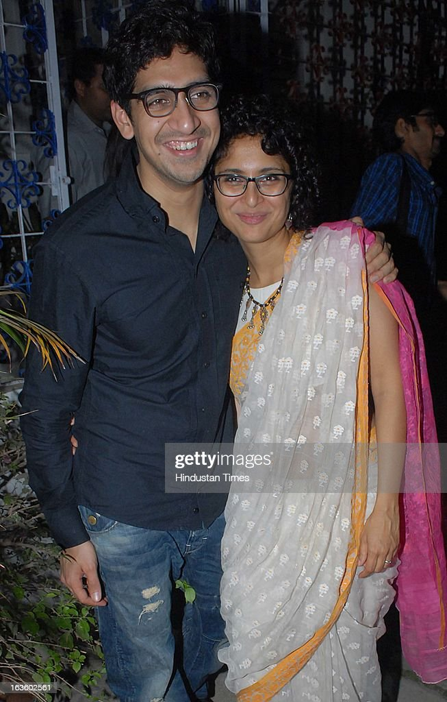 Kiran Rao and Ayan Mukerji at a Special preview of Otlo Design project hosted by Belvedere Vodka at Bhavishyavani Backyard, Bandra on March 11, 2013 in Mumbai, India.