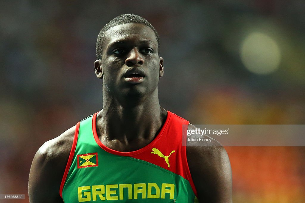 <a gi-track='captionPersonalityLinkClicked' href=/galleries/search?phrase=Kirani+James&family=editorial&specificpeople=5432961 ng-click='$event.stopPropagation()'>Kirani James</a> of Grenada competes in the Men's 400 metres final during Day Four of the 14th IAAF World Athletics Championships Moscow 2013 at Luzhniki Stadium on August 13, 2013 in Moscow, Russia.