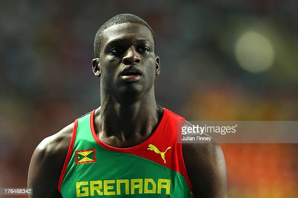 Kirani James of Grenada competes in the Men's 400 metres final during Day Four of the 14th IAAF World Athletics Championships Moscow 2013 at Luzhniki...
