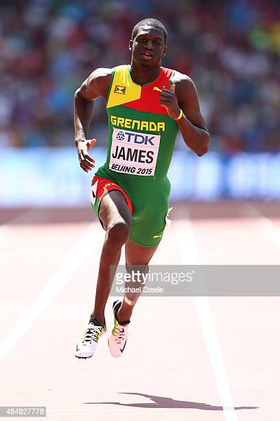 Kirani James of Grenada competes in the Men's 400 metres heats during day two of the 15th IAAF World Athletics Championships Beijing 2015 at Beijing...